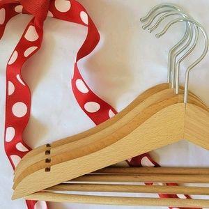 Premium Child Coat Suit Pant Wooden Hangers